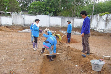 Preparing of the drain system