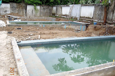 Both pool and drainage systems are ready!