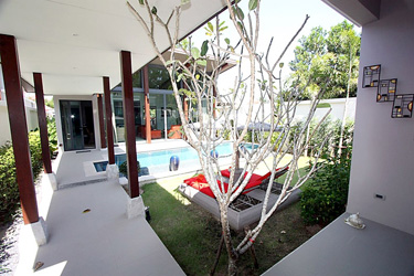 Terrace, Garden and Pool Area