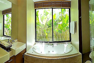 Master Bathroom with Garden View