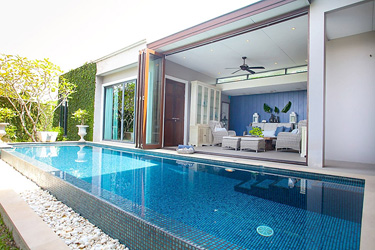Pool, Small Garden and Veranda with Garden and Pool View