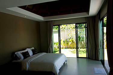 Master Bedroom with Pool and Garden View