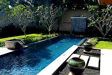 Pool, Fish Pond and Garden Area